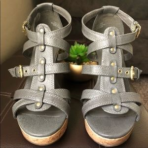 Sbicca Karen grey wedge. 6.5